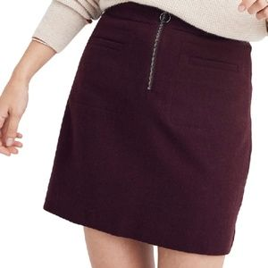 Plus Size Madewell Fire Side Wool Mini Skirt Sz 24